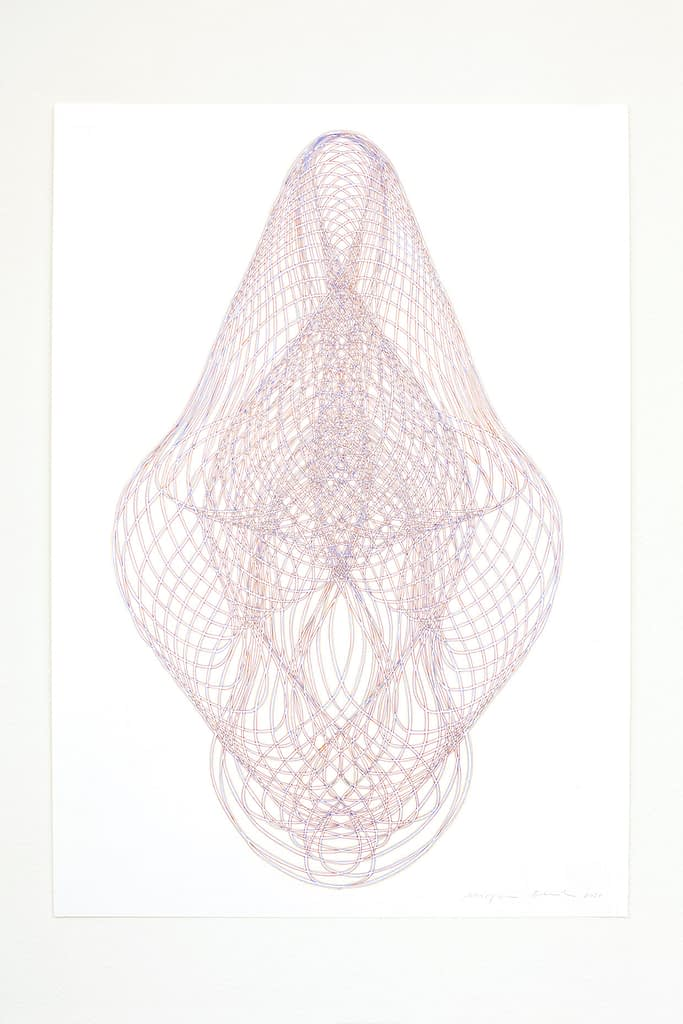 Aus der Serie «Umhüllt», 2021, Filzstift auf Papier, 84.1 x 59.4 cm