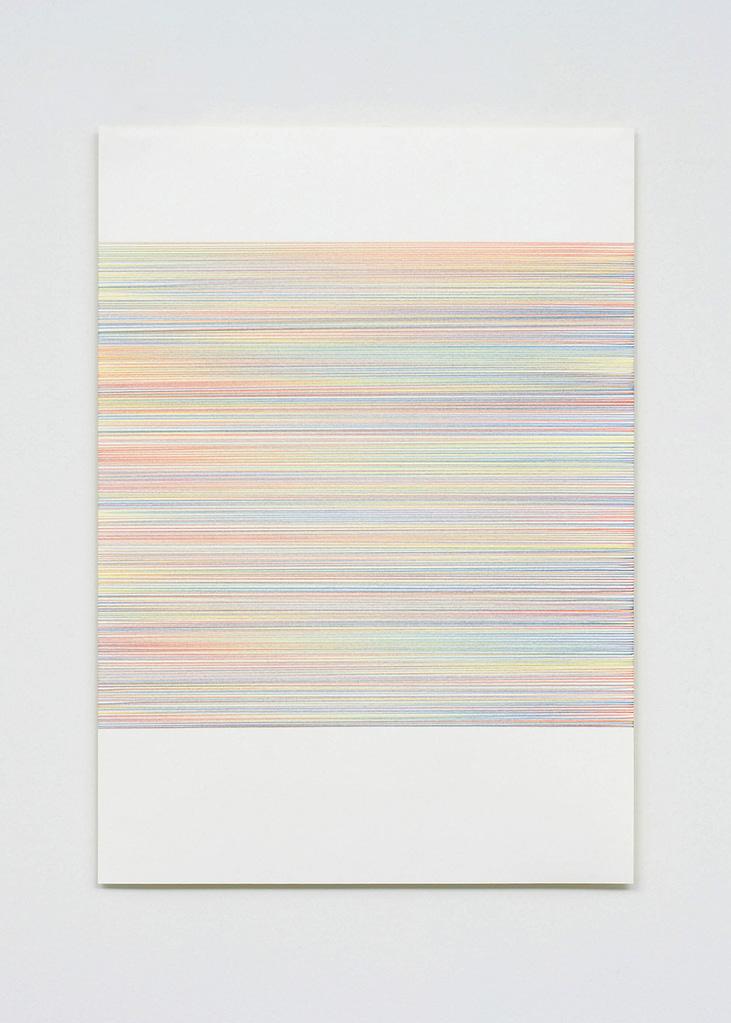 """Farbenmeer I"", 2007, Farbstift auf Papier, 7-teilig, 59.4 x 42 cm, Blatt 3"
