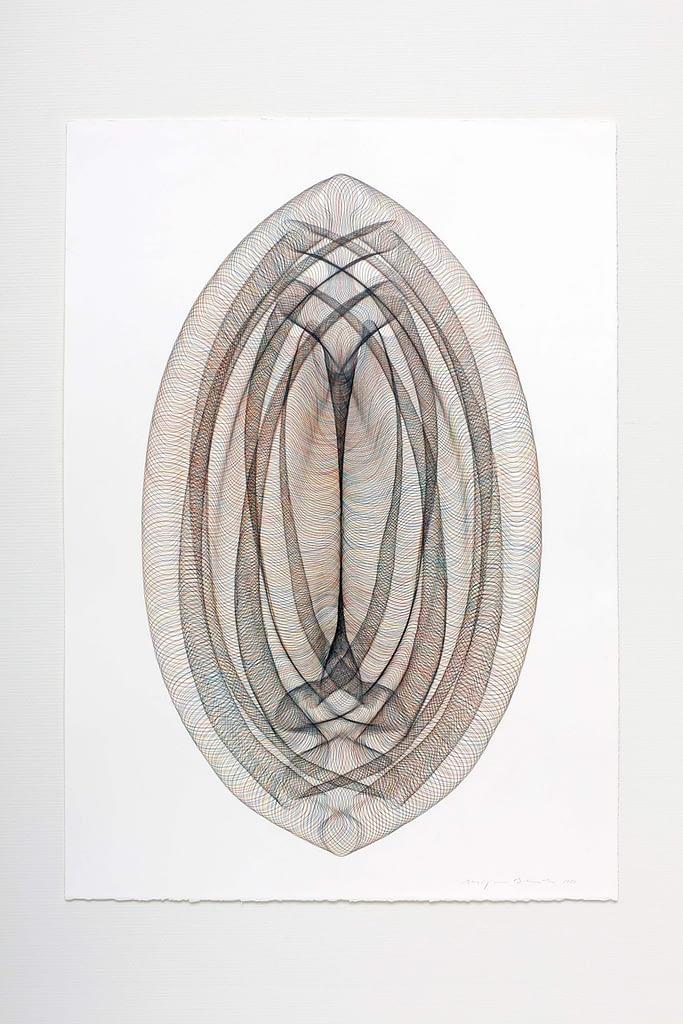 """Aus der Serie """"Portale"""", 2020, Farbstift und Bleistift auf Büttenpapier, 105 x 75 cm"""