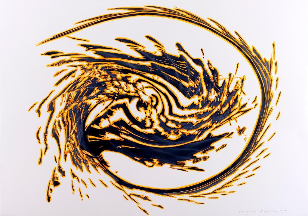 Aus der Serie «Drachen», 2020, Tusche und Filzstift auf Papier, 59.4 x 84.1 cm