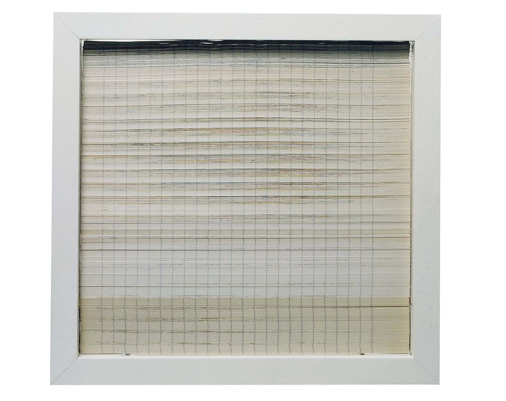 """Bildobjekt aus dem Projekt """"Umwandlung"""". Entstanden 1980, geschnitten 1991, 22.3 x 23.4 x 3 cm"""