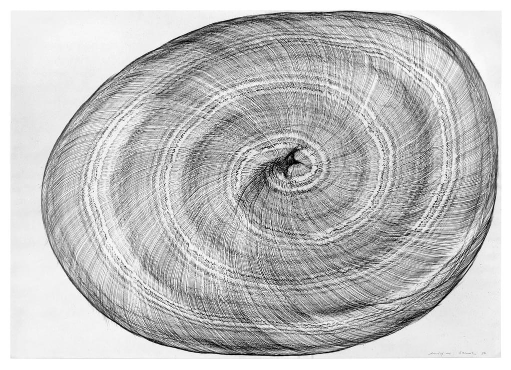 """Klanghorn V"", 1994, Bleistift auf Papier, 60 x 84 cm"