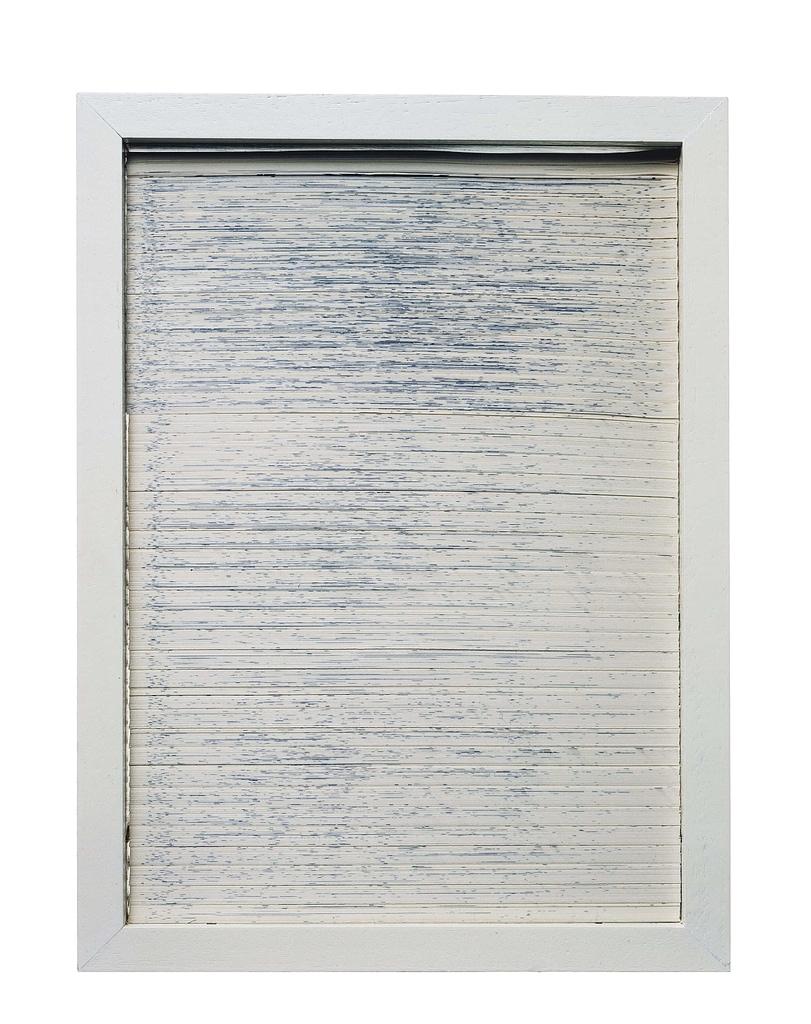 """Bildobjekt aus dem Projekt """"Umwandlung"""". Entstanden 1982, geschnitten 1991, 30.9 x 22.9 x 3 cm"""