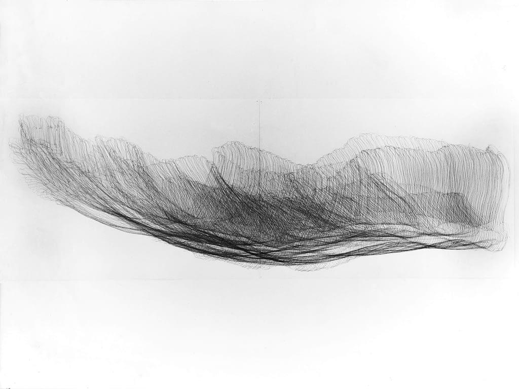 """""""Zwölfender IV"""", 1993, Bleistift auf Papier, je 59.5 x 168 cm"""