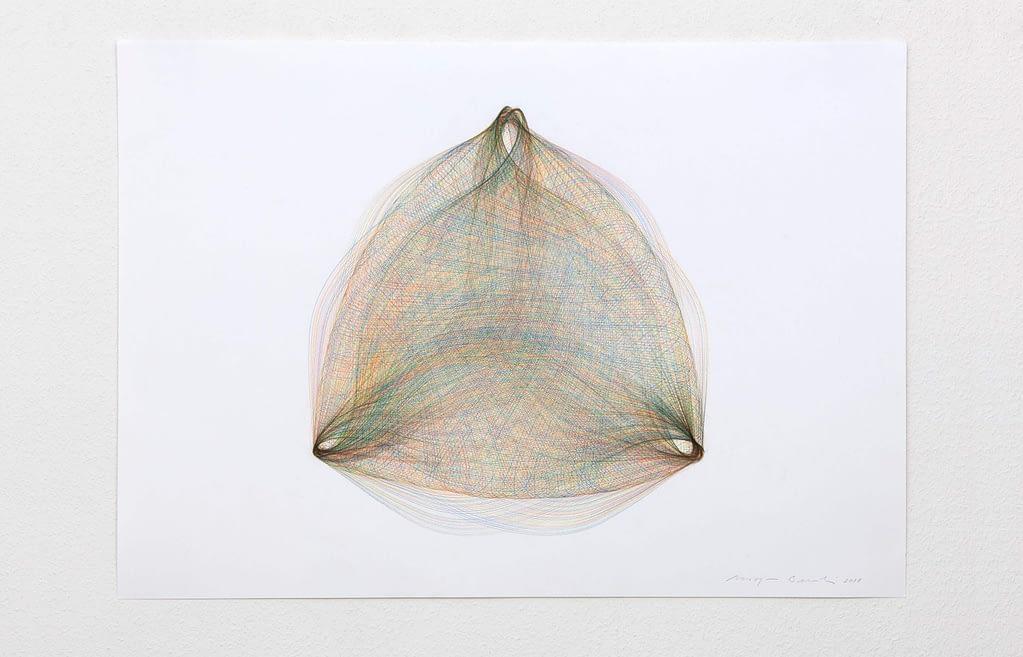 """""""Inbetween I"""", 2018, Farbstift auf Papier, 59.4 x 84 cm"""