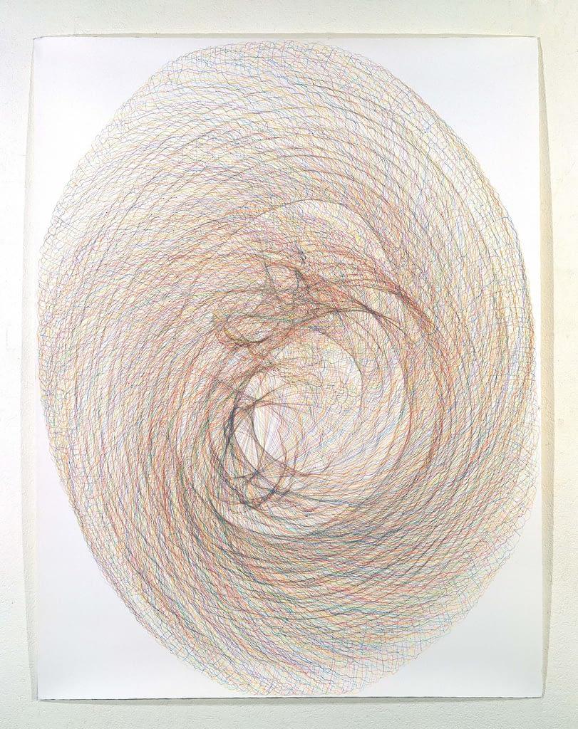 """""""Horngebilde I"""", 1994, Farbstift auf Büttenpapier, je 140 x 107 cm"""