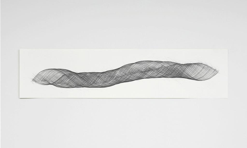 """""""Openend I"""", 2009, Bleistift auf Papier, 42 x 178.2 cm"""