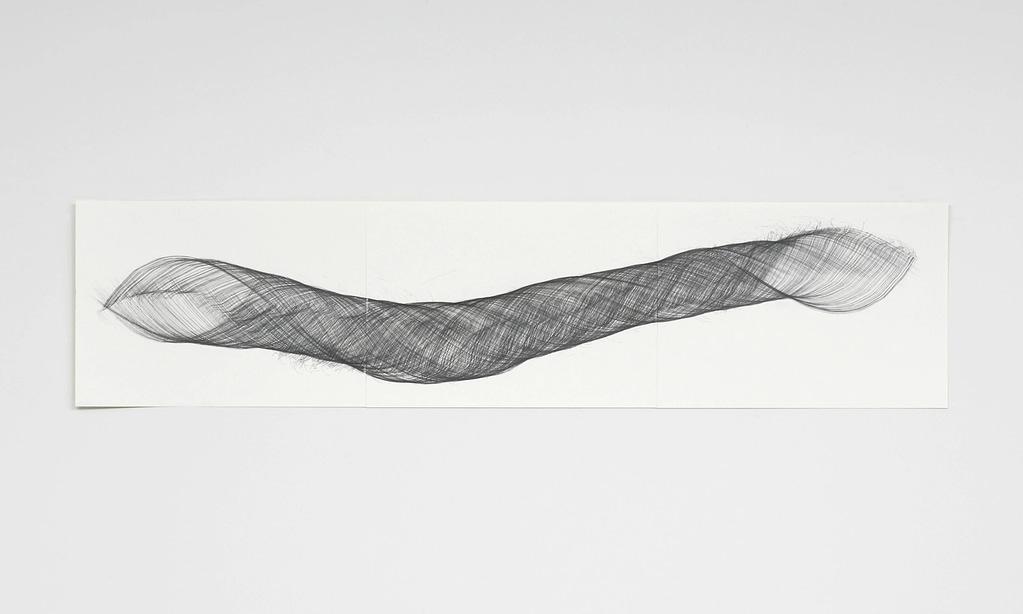 """""""Openend III"""", 2009, Bleistift auf Papier, 42 x 178.2 cm"""