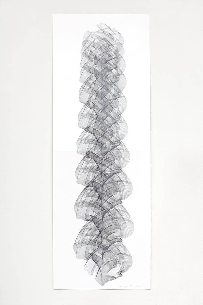 """Aus der Serie """"Crescendo"""", 2020, Bleistift auf Papier, 168.2 x 59.4 cm"""