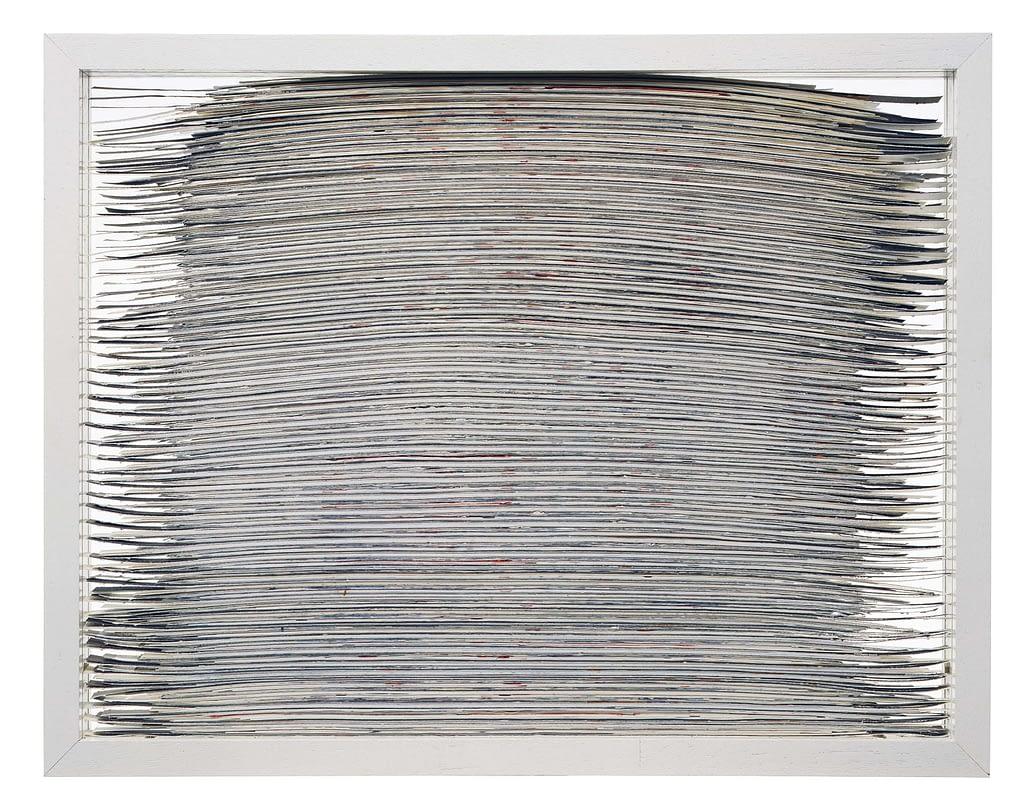 """Bildobjekt aus dem Projekt """"Umwandlung"""". Entstanden 1983, geschnitten 1991, 33.3 x 42.6 x 3 cm"""