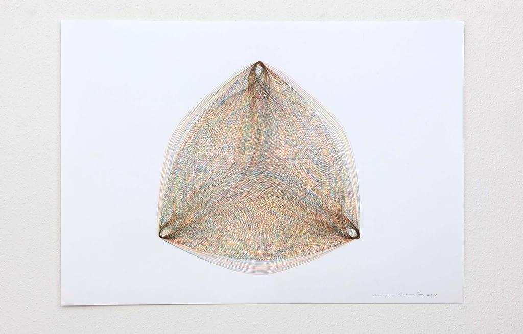 """Inbetween II"", 2018, Farbstift auf Papier, 59.4 x 84 cm"