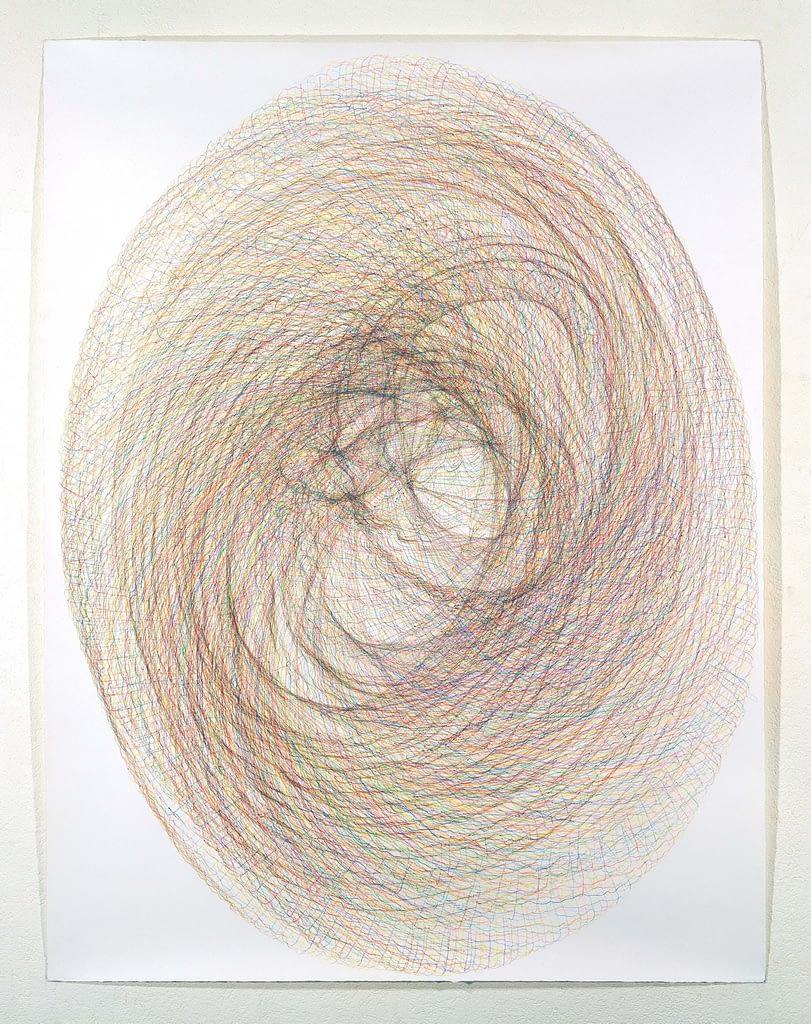 """""""Horngebilde II"""", 1994, Farbstift auf Büttenpapier, je 140 x 107 cm"""