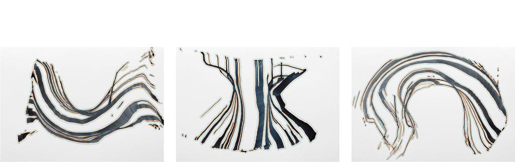 """Auswahl aus der Werkgruppe """"Momente"""", 2020, Tusche und Filzstift auf Papier, je 21 x 29,7 cm"""