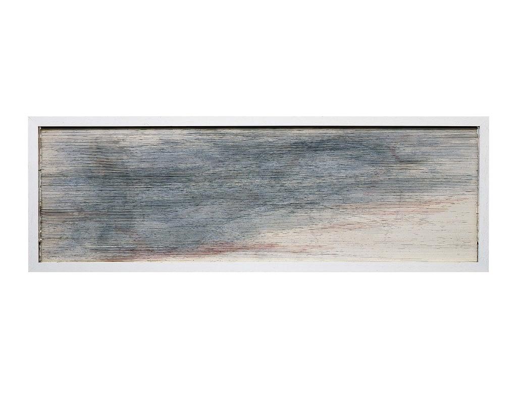 """Bildobjekt aus dem Projekt """"Umwandlung"""". Entstanden 1985, geschnitten 1993, 25.1 x 73.7 x 3 cm"""