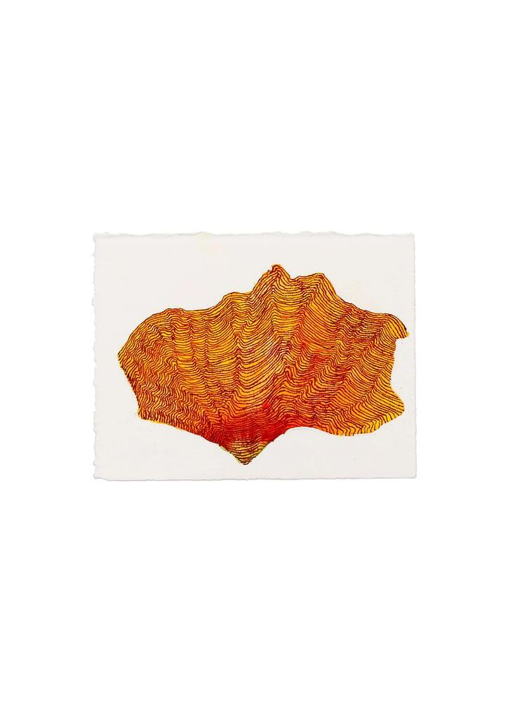 """Aus der Serie """"Schmetterlingslaub"""", 2012, Aquarell und Tusche auf Büttenpapier, 9 x 12 cm"""